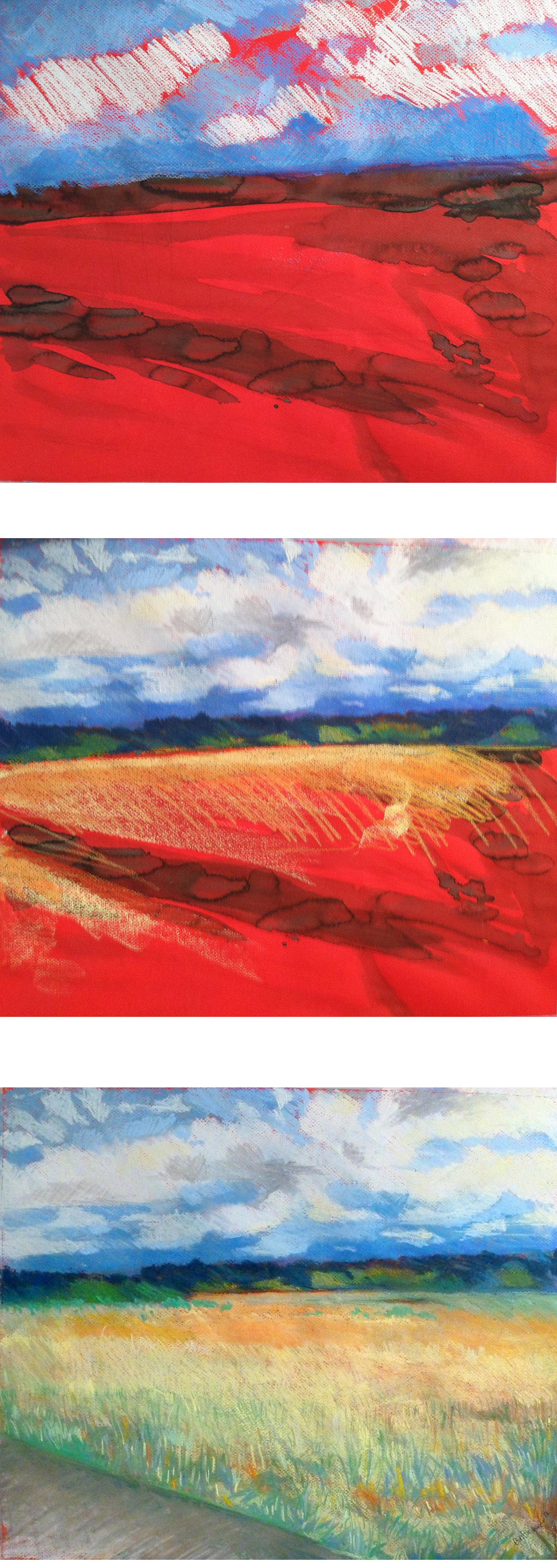 Pastel Landscape Process