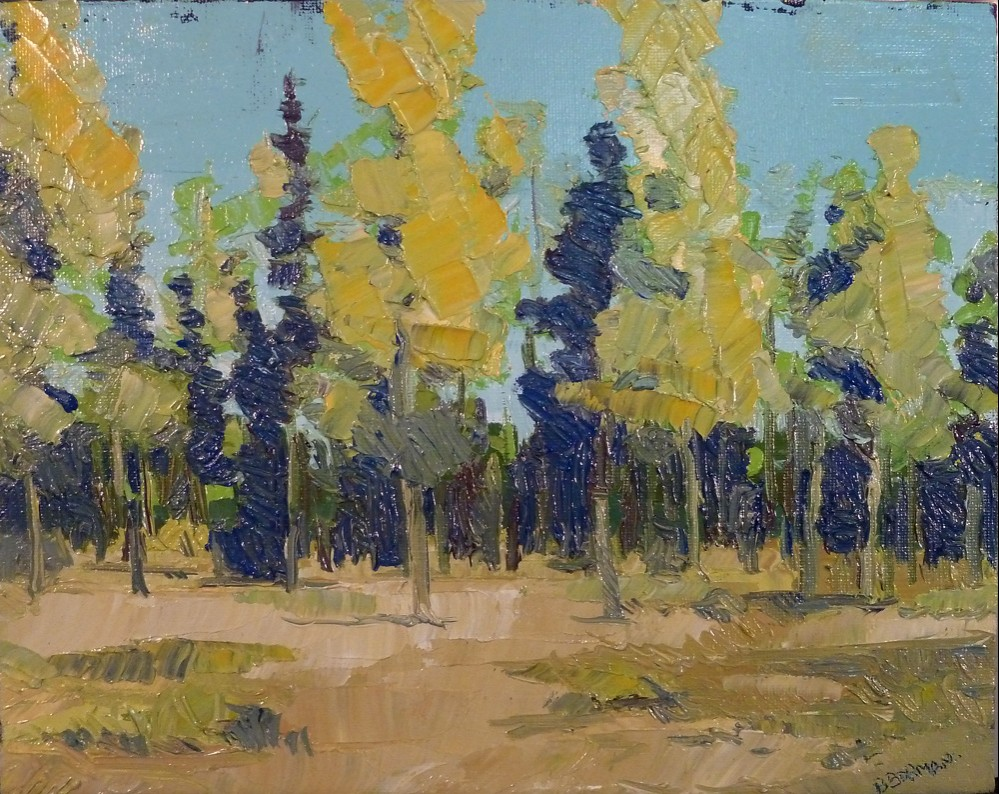 Blue and Yellow Trees
